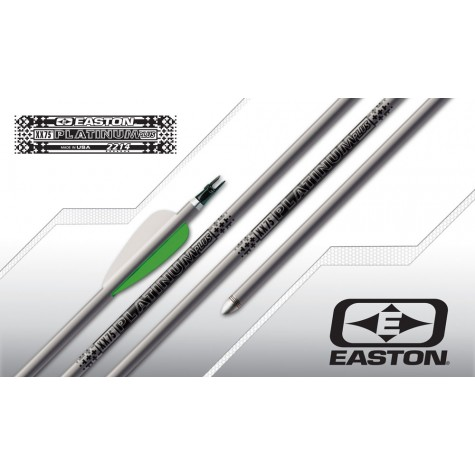 Easton XX75 Platinum Plus Arrows with G Nocks and NIBB points (Set of 12) : ES42Aluminium ArrowsES42 3FL 32 12 G